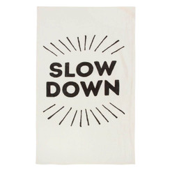 Slow Down Pure Linen Tea Towel