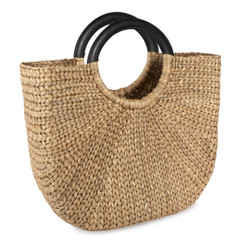 Large Demilune Basket Tote
