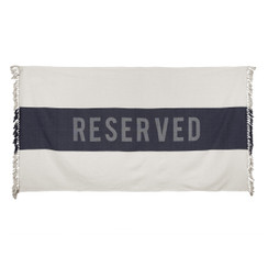 Reserved Beach Towel, Indigo