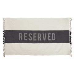 Reserved Beach Towel, Black