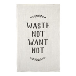 Waste Not, Want Not Pure Linen Tea Towel