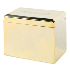 BRASS BEVELED RECIPE BOX