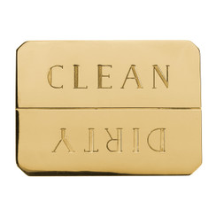 BRASS CLEAN/DIRTY DISHWASHER MAGNET