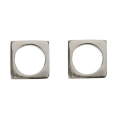 SILVER-PLATED MODERNIST NAPKIN RINGS, SET OF 2