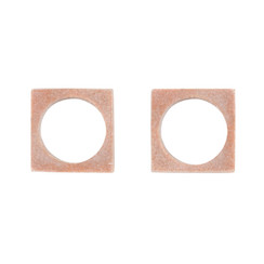 PINK MARBLE MODERNIST NAPKIN RINGS, SET OF 2