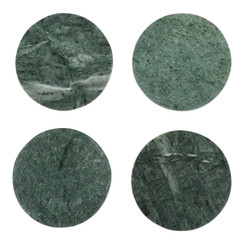 GREEN MARBLE MODERNIST COASTERS
