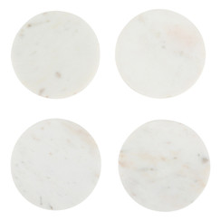 WHITE MARBLE MODERNIST COASTERS