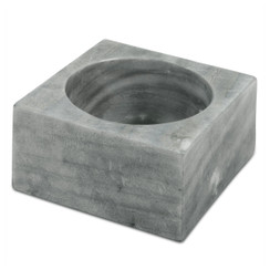 GRAY MARBLE MODERNIST BOWL, SMALL