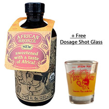 African Bronze Fire Cider Apple Cider Vinegar & Honey Tonic. With Free Dosage Shot Glass