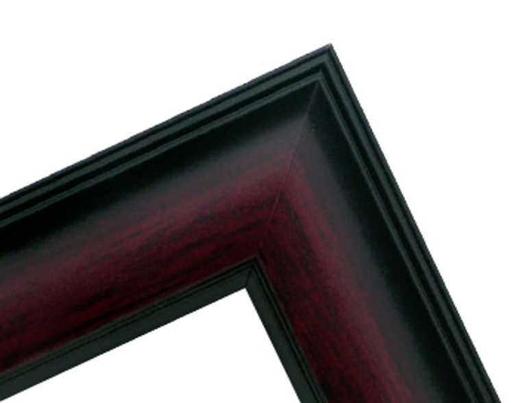 """1 1/2"""" Mahogany with Black Accent Wood Frame (#MS 910)"""