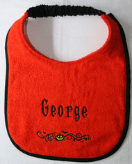 Halloween Border Personalized Bib