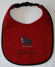 dark red terry dog drool bib