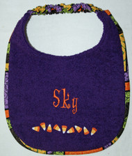Candy Corn Border personalized bib