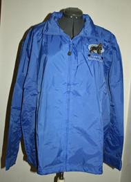 Embroidered nylon jacket