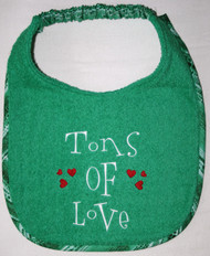 Tons of Love Dog Drool Bib (special order)