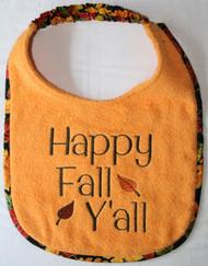 Happy Fall Y'all Dog Drool Bib