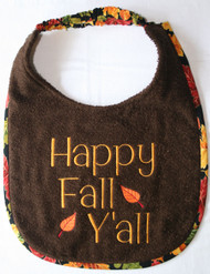Happy Fall Y'all Dog Drool Bib In Stock