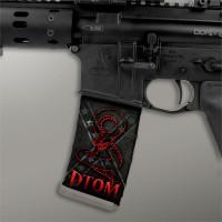 Confederate Flag Stealth Black w/ Red DTOM