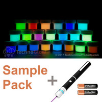 21 Color Glow Powder Sample Kit with a UV Laser Light