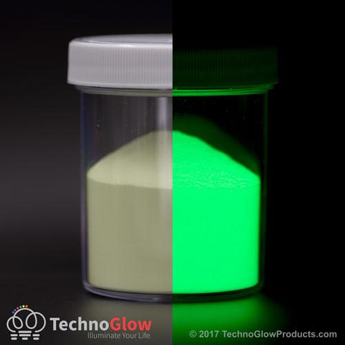 Green Glow in the Dark & UV Powder <100 Microns