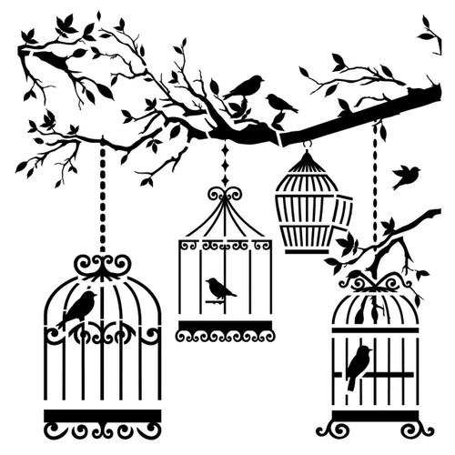 Small Birds Of A Feather Design Template