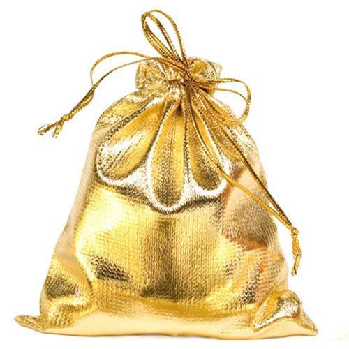 Gold Metallic Pouch