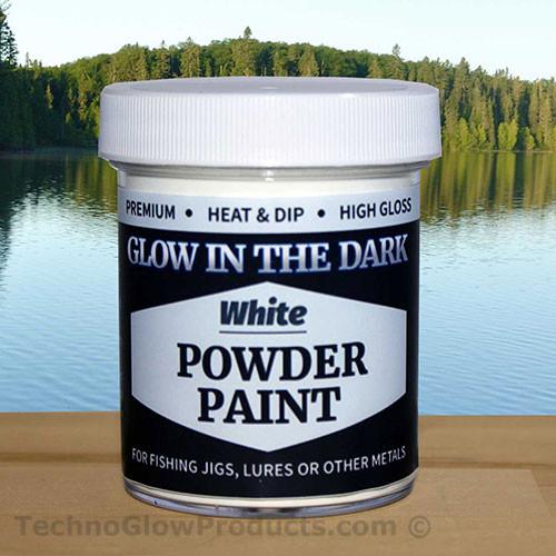 White Glow in the Dark Powder Paint
