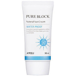 A'PIEU Pure Block Natural Waterproof Sun Cream SPF50+/PA+++