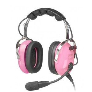 Child / Youth Passive Aircraft Stereo Headset - Pink