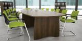 EX10 Boatshaped Boardroom Meeting Room Table (FOG)