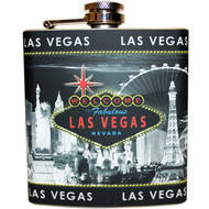 Las Vegas Flask design Gray Skyline