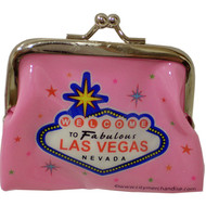 Pink Las Vegas Welcome Sign Coin Purse