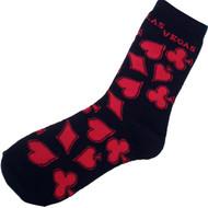 Las Vegas Black Card Suits Souvenir Socks