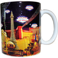 Las Vegas Skyline and Searchlights Coffee Mug- 11oz.