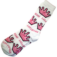 White & Pink Vegas Princess Las Vegas Souvenir Socks