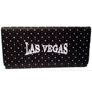 Black Las Vegas Diamond Stars Wallet