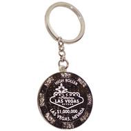 LV HI ROLLER Glitter Poker Chip Keychain