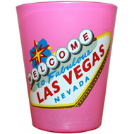 Las Vegas HIGHLIGHTER Shotglass PINK