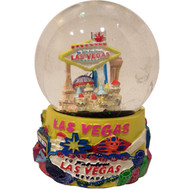 Las Vegas Snowglobe Yellow- SMALL