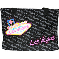 Las Vegas Black and Pink Totebag