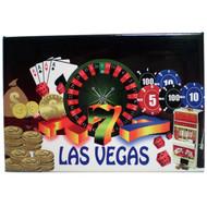 """""""Las Vegas"""" Gaming Postcard Magnet"""