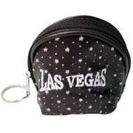 Black Las Vegas Diamond Stars- Dome Coin Purse