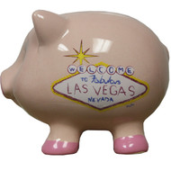 Las Vegas Souvenir Pink Las Vegas Piggy