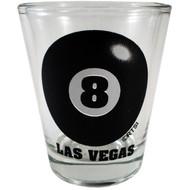 Eight Ball Las Vegas Shotglass