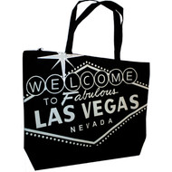 Jumbo All Black Las Vegas Souvenir Tote Bag