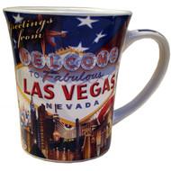 US Flag Las Vegas Souvenir Mug- 15oz.