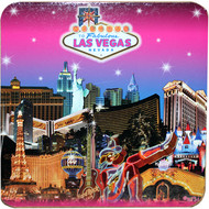 Las Vegas Pink Skyline Coaster Set of 4