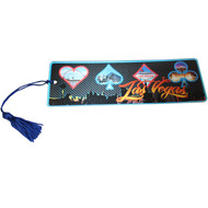 "Las Vegas Souvenir Bookmark ""Card Symbols"" Design"