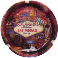 Fireworks Collage Las Vegas Souvenir Ashtray