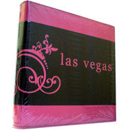 Pink and Black Embossed Las Vegas Photo Album-200 Photos
